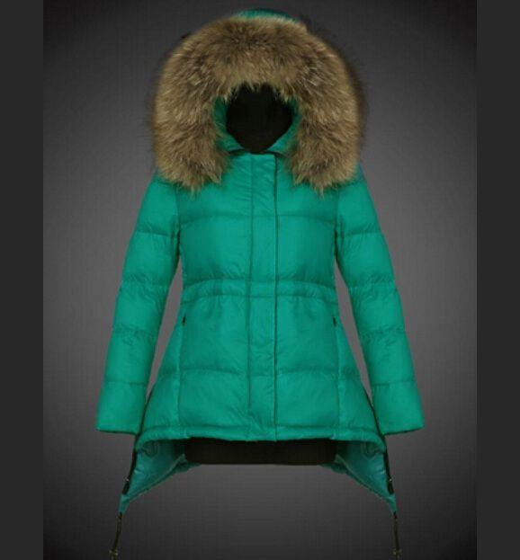 Nouveaux Manteau Moncler Femme Doudoune Pyrenex Capuche Fourrure Vert boutique