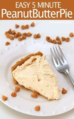 EASY peanut butter pie. Great for a last minute party or dessert. And seriously…