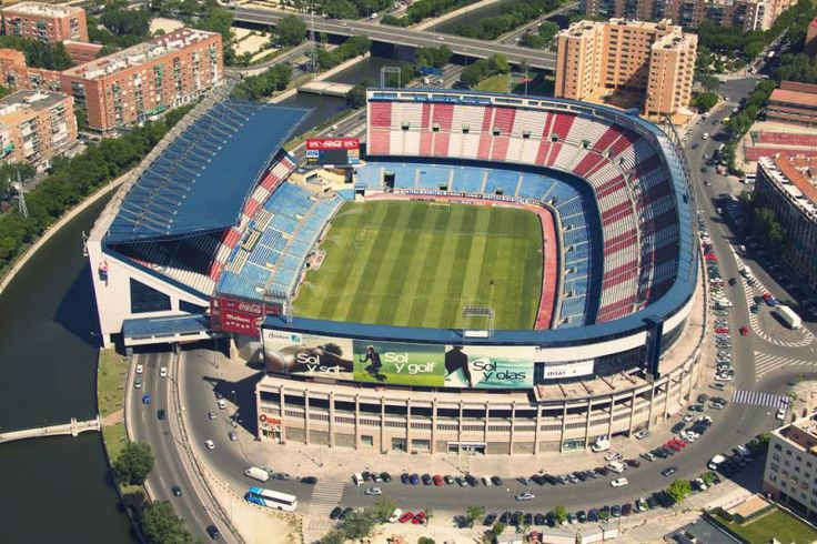 Athletico Madrid FC  Vicente Calderón Stadium Capacity: 54.907