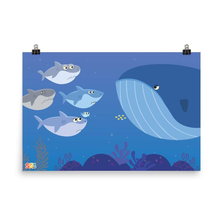 Baby Shark Family Poster