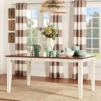 Cherry Hill Rich Cherry and Antique White Extendable Dining Table, Rich Cherry + Antique White