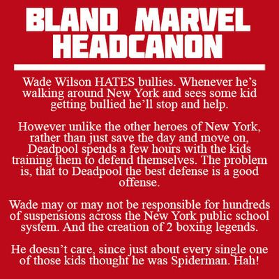 Bland Marvel Headcanons // HOW IS THIS BLAND?!?!?!!!! THIS IS AWESOME!!!!!!!!! | Deadpool headcanon