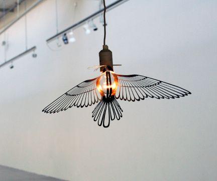 Bird Light - clips onto light bulb