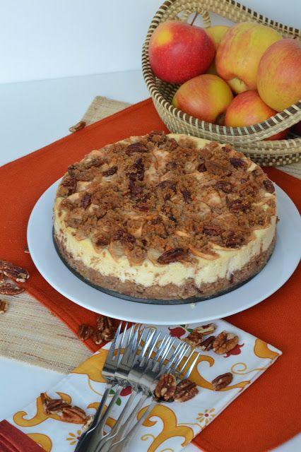 Apple Pecan Autumn Cheesecake | Bonbons & Biscotti | Pinterest ...