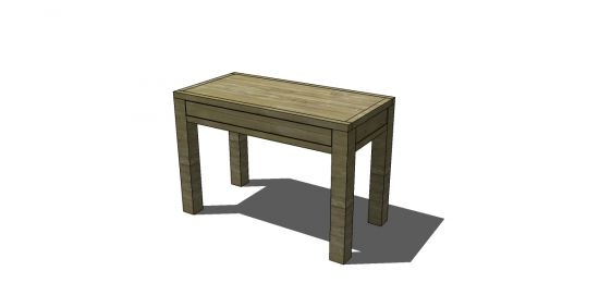 Free plans for desk | Free DIY Furniture Plans to Build a Dawson Small Desk | The Design ...