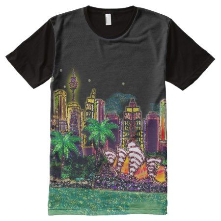 T-Shirt | Sequin Art Print Sydney Australia - click/tap to personalize and buy