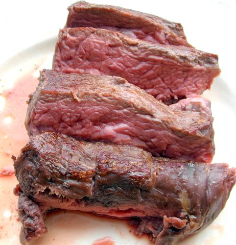 How to slow cook steak in oven so it gets to perfect medium-rare level of doneness? First, preheat the oven to low temperature...