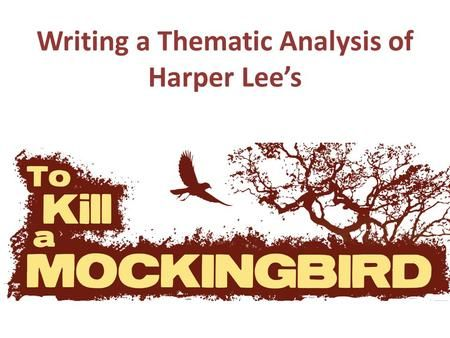 harper lee thesis The characters of the novel to kill a mockingbird by harper lee greatly enhanced the good and evil colors of maycomb and the people that thesis/dissertation chapter.