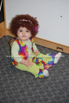 Homemade Hippie Baby Costume: I consider myself a pretty crafty person and have just recently really taken to sewing. I decided to attempt to make costumes for my kids this year. I