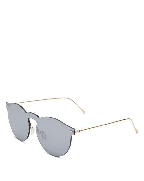 Illesteva Leonard Mirrored Mask Sunglasses, 47mm