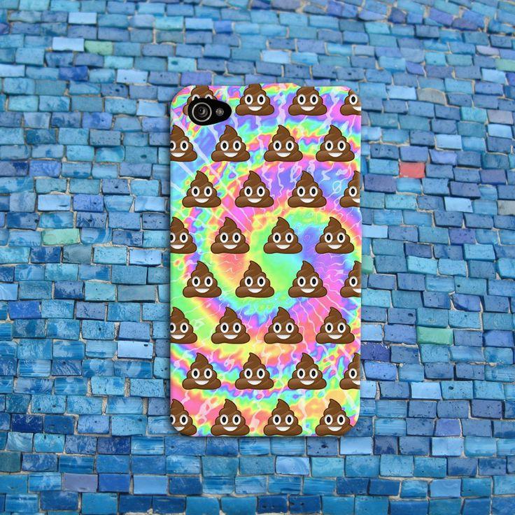 Funny Poop Emoji Tye Dye Cool Cute Custom Apple Case iPhone 4 4s 5 5s 5c 6 Plus