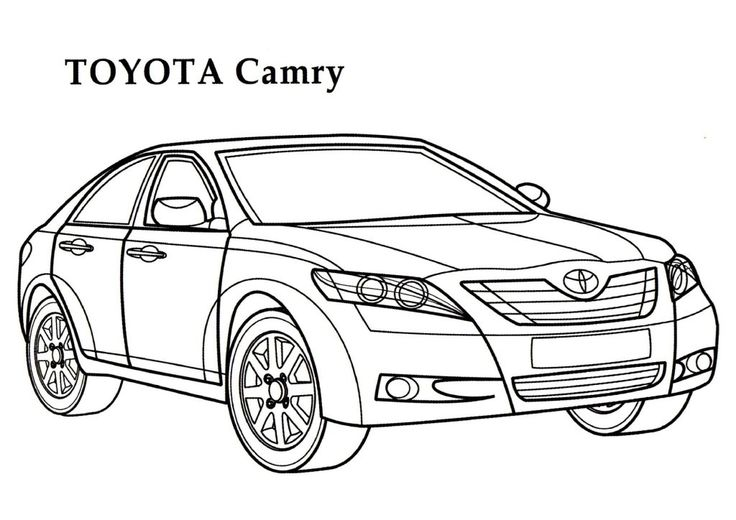 Toyota Camry Car Coloring Page I 2019