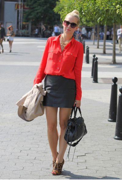 "Zara Leather Skirts, Amanda Schutz Shoes, J Crew Shirts, Balenciaga Bags | ""With a Twist"" by BrooklynBlonde"