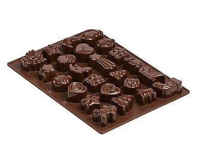 Stampino per cioccolatini in silcione Delizia - 25x19 cm