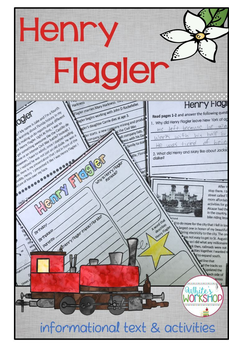 Bring Henry Flagler And Florida History Into Your Reading Block With These Informatio History Worksheets Social Studies Worksheets History Interactive Notebook [ 1107 x 736 Pixel ]