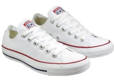 Converse Low Canvas in Optical White. Also Available in infant sizing