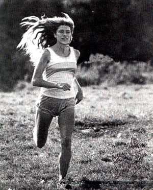 """Roberta """"Bobbi"""" Gibb, the first woman to complete the Boston Marathon (in 1966 as an unauthorised entrant and without a number, because women were not allowed into the race). She clearly disproved the belief that women were not physiologically capable of running marathon distances"""