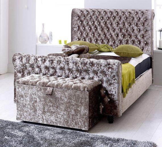 chesterfield sleigh bedframe