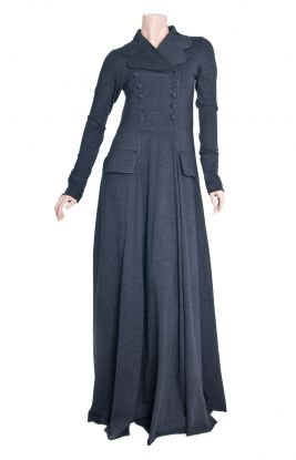 Aab UK Charred Coal Abaya :