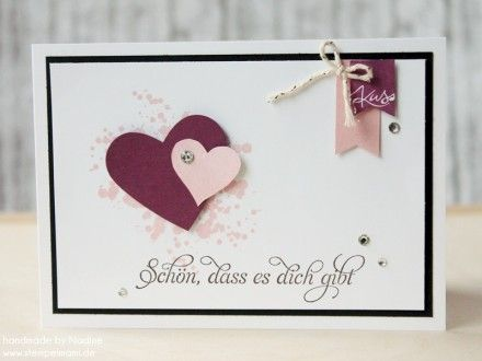 Grusskarte Stampin Up Valentin Card Karte Love Greeting Card 012