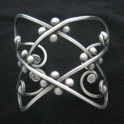 Los Castillo Sterling Silver Bracelet, 1950's