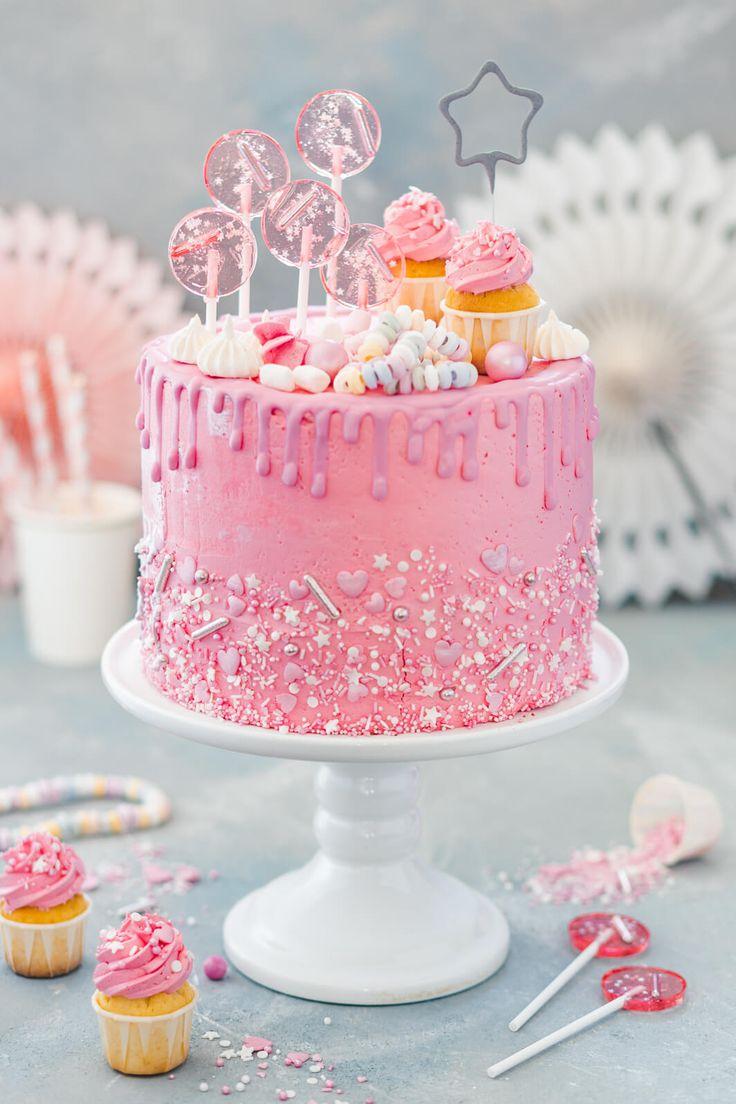 Hier ist ein Rezept für den Traum eines absoluten Mädchens: ein rosa Mädchen …   – Torten