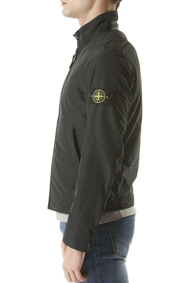 STONE ISLAND Black jacket for men spring summer 2014