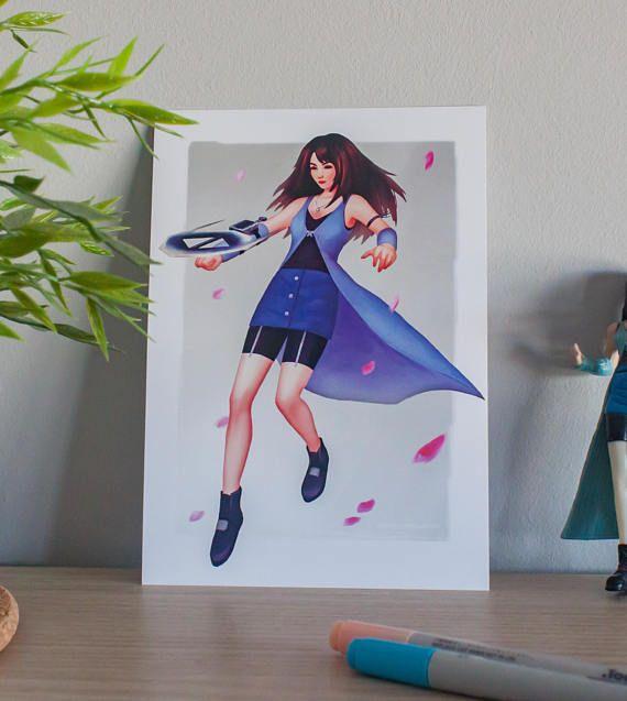 Rinoa Final Fantasy VIII  Art Print A5/A3  Videogame art