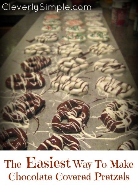 Easiest Way to Make Chocolate Covered Pretzels