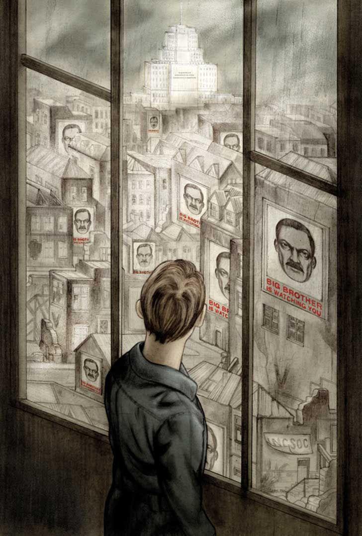 """""""1984"""", de George Orwell, é uma obra que até hoje merece ser lida, estudada e lembrada. Escrito na década de 1940, o livro põe em discussão o controle que os regimes totalitários podem exercer sobre as pessoas, sendo capaz de reprimir..."""