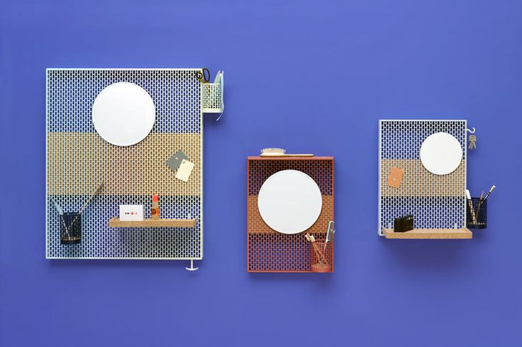handy, brick pattern pinorama pin board designed by inga sempe for hay