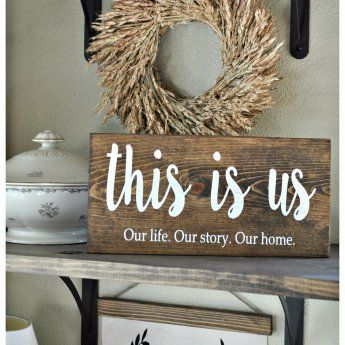 This is Us... Love this Family Wood Sign