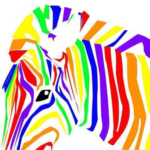 радужная зебра, оригинал