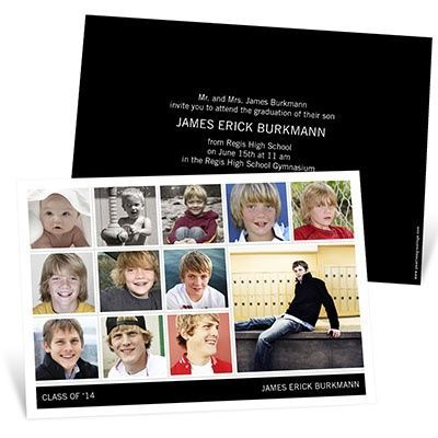 Graduation Announcements – Year by Year Collage