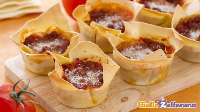 Ricetta Lasagne cupcake - Le Ricette di GialloZafferano.it