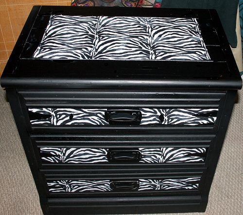 zebra dresser makeover - Google Search