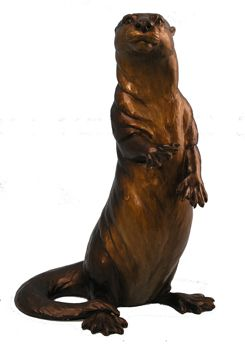Turner Sculpture: Otter Sculptures: Otter Curiosity