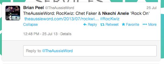 Aussie World Tweet...