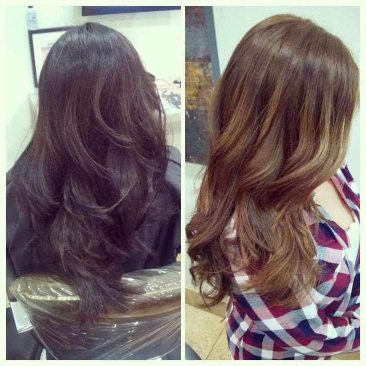 Before and after color correction  inoa tint and balayage
