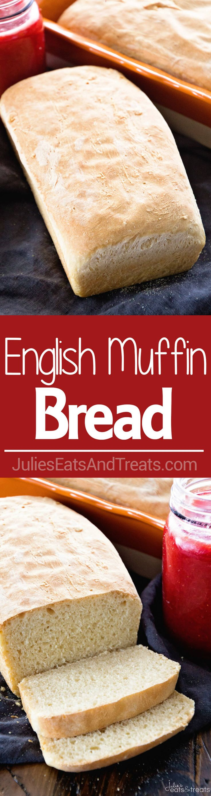 English Muffin Bread ~ Perfect Bread for Toasting! Homemade Bread that has the Same Texture and Flavor as Your Favorite English Muffins via @julieseats