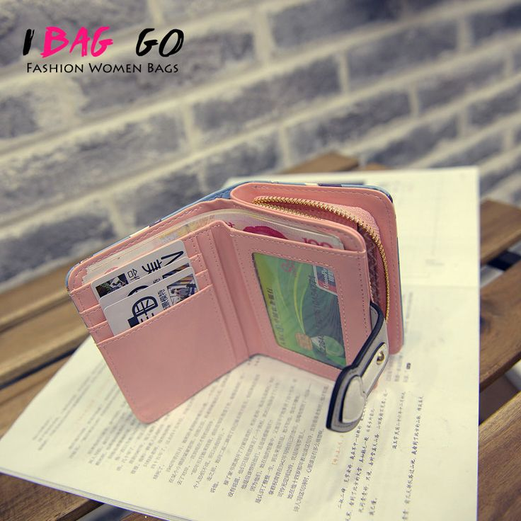 Women Cute Leather Wallets And Purses Japanese Candy Famous Brand Wallet Small Anime Cartoon Designer Kawaii 2016