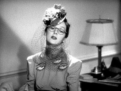 "Gilbert Adrian (I LOVE this ""eye"" blouse on Rosalind Russell, one of my favorite film costumes ever)"