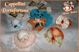 Cappellini Portafortuna da usare come segnaposto oppure da aggiungere alle confezioni regalo per decorarle. Con cent. di euro o coccinella.