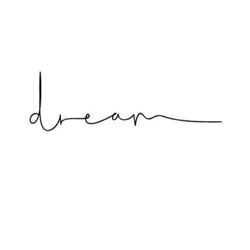 black, Dream, and letters image