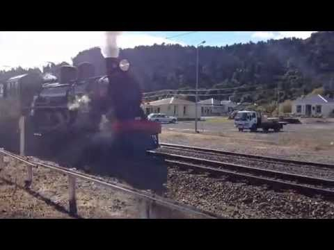 "Ab608 ""Passchendaele"" Steam Train (Ruapehu ANZAC Express) Ohakune 26 Apr..."