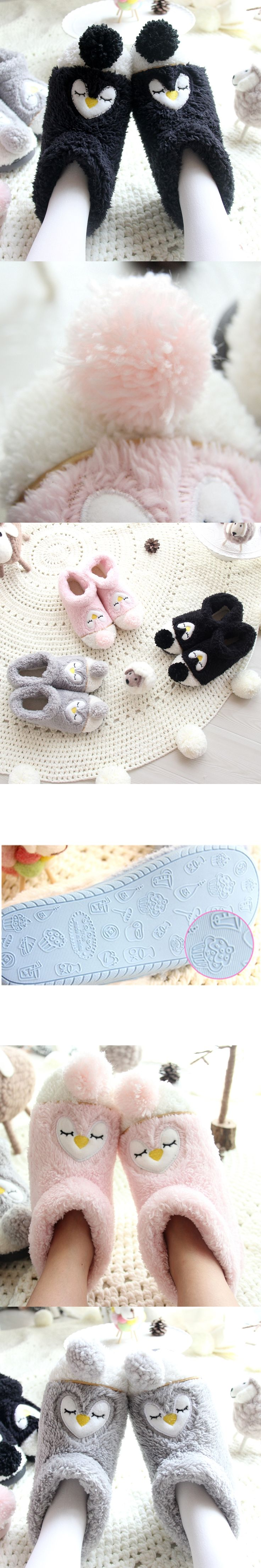 Cartoon Indoor Slippers For Adults Plush Animal Slippers Warm Thicke Cotton Boots At Home Pantufa de bichos