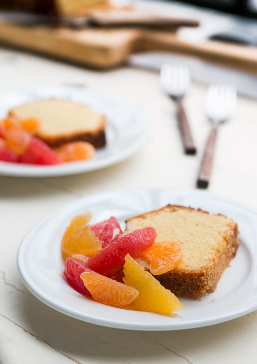 Orange-Glazed Polenta cake | davidlebovitz.com