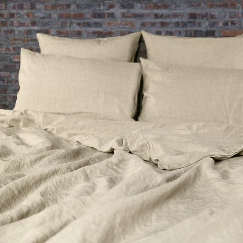 Natural Washed Linen Quilt Cover | Tailored - linenshed