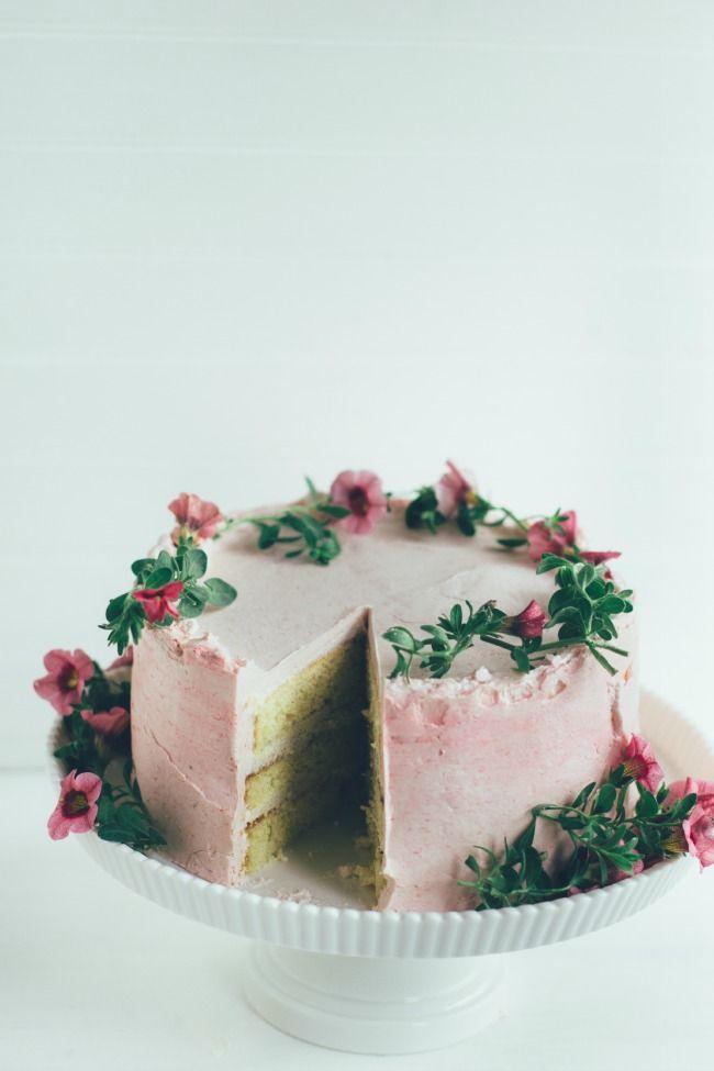 Butterkuchen mit Rhabarber bereift + Kardamom-Creme |  die Vanilleschote Blog