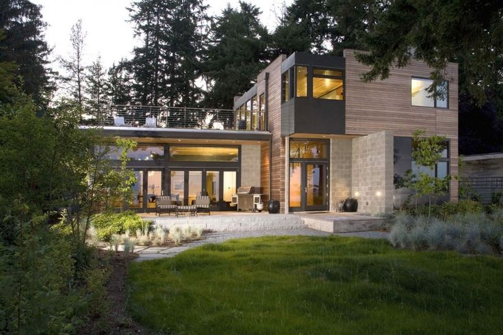 Rare : Maison contemporaine bois et pierre labellisée Leed Platinium près de Seattle, Usa, #construiretendance